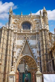 Seville cathedral saint christopher door spain