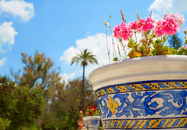 Seville maria luisa park gardens spain