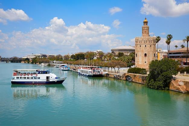 Seville torre del oro tower in sevilla andalusia