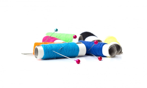 Sewing accessories for needlework sewing isolated