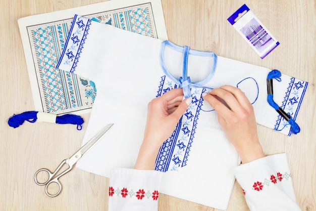 Sewing and embroidery workshop or workplace