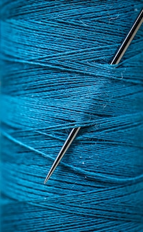 Sewing threads closeup