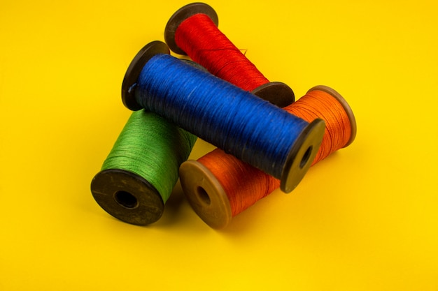 Sewing threads colorful