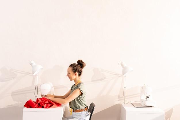 Sewing in workshop