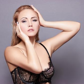 Sexy blonde in underwear
