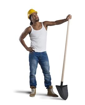 섹시 한 건설 노동자