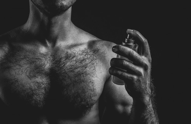 Sexy man and perfume