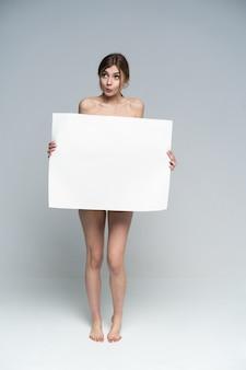 포스터와 섹시 벗은 여자