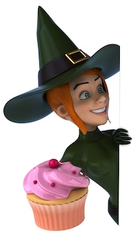Sexy witch - 3d character
