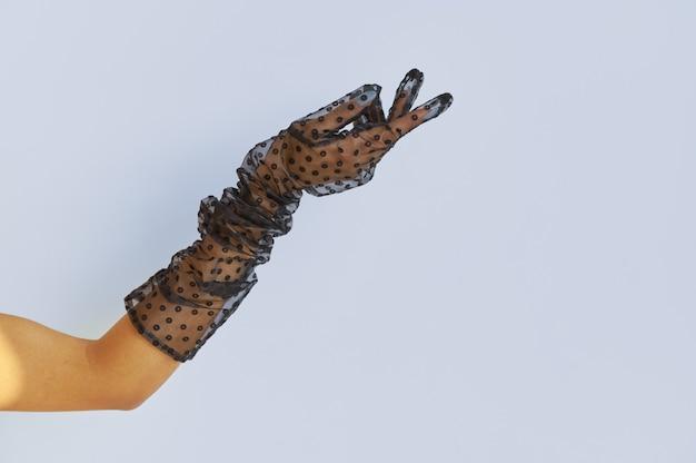 섹시한 여자의 손, 투명 란제리