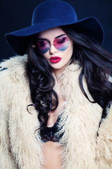 Sexy woman. sensual fashion model