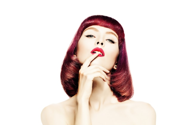 Sexy woman with red hair