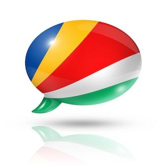 Сейшельские острова флаг речи пузырь