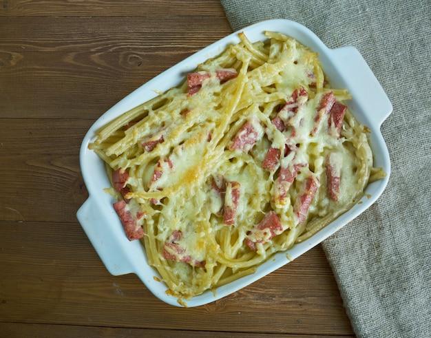 Sformato di pasta consalumi-サラミ入りイタリアンベイクトパスタ