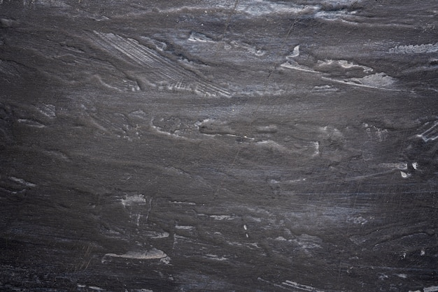 Shabby black and gray wall with streaks, textured