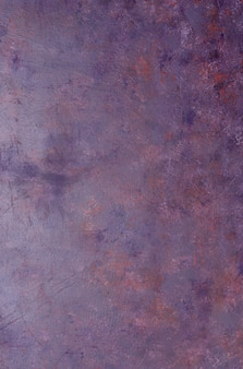 Shabby old violet metal background with texture.