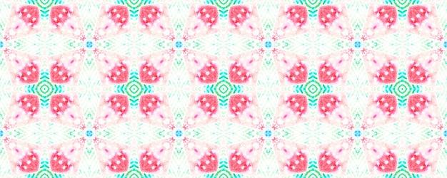 초라한 패턴입니다. 수채화 예술. 파란색 빨간색 흰색 민족 배경입니다. 민족 빈티지 장식입니다. 전통적인 완벽 한 패턴입니다.