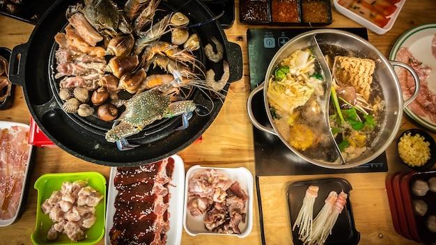 Шабу еда корейский стиль