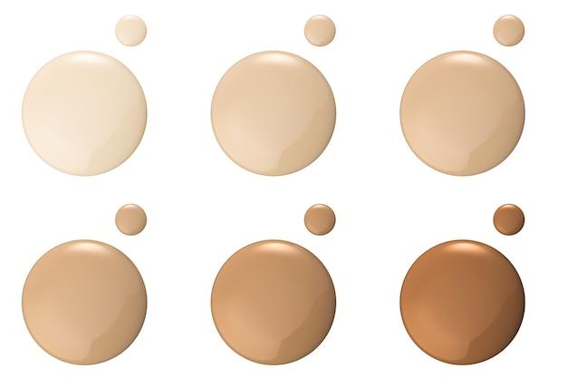 白い背景の上の基礎の色合い