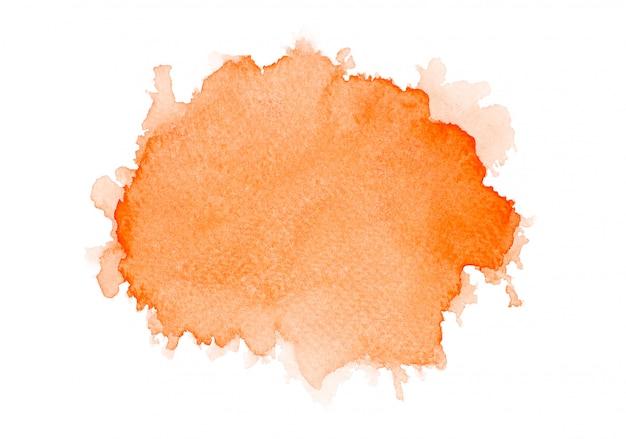 オレンジ色の水彩画を描きます。