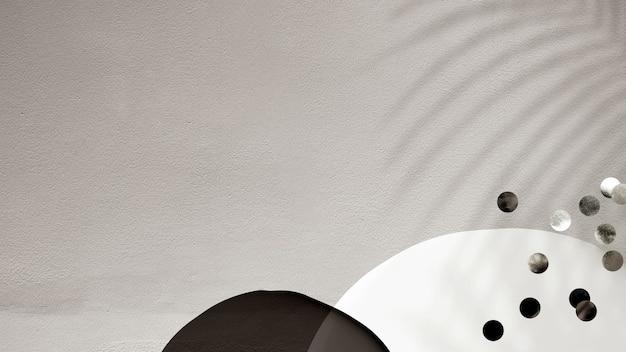 抽象的な壁の葉の影