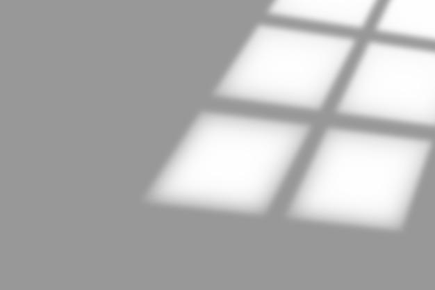 白いテクスチャの背景にウィンドウオーバーレイの影。装飾的な製品のプレゼンテーションに使用します。