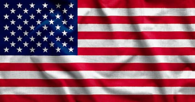 Shadows on american flag