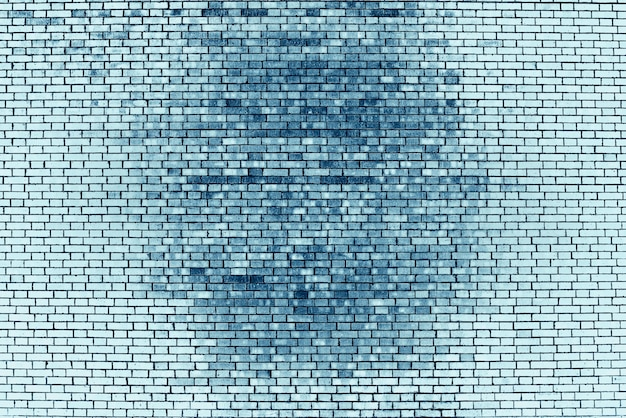 Старая реалистичная кирпичная стена сделанная из голубого кирпича в различных shads.
