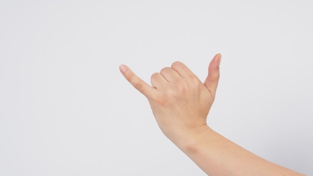 The shaka hand sign is a greeting in the hawaiian culture,subsequently aiso used in surfer culture.