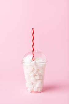 Shake glass full of sugar cubes