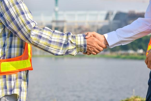 Shake hand concept, hand shake agreement