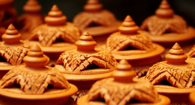 Shaker crafts, pottery of the thai people