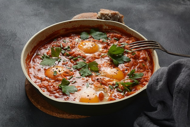 Shakshuka、中東の伝統的な自家製の朝食