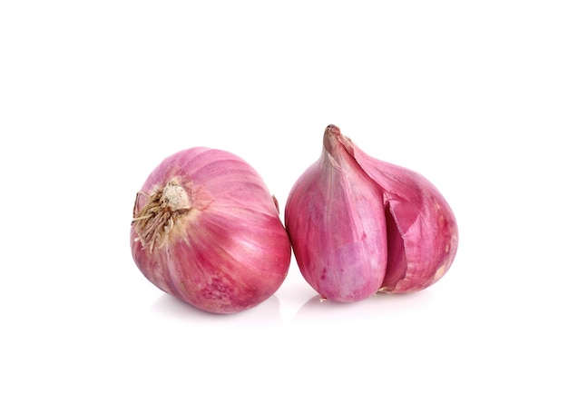 Shallots isolated