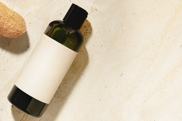 Bottiglia di shampoo, prodotto di bellezza