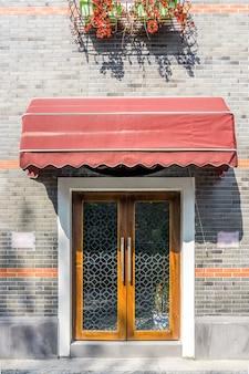 상하이 외탄 유럽식 문과 창문