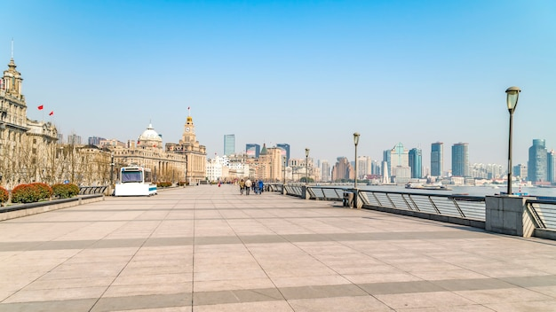 상하이 외탄 오래된 건물 풍경