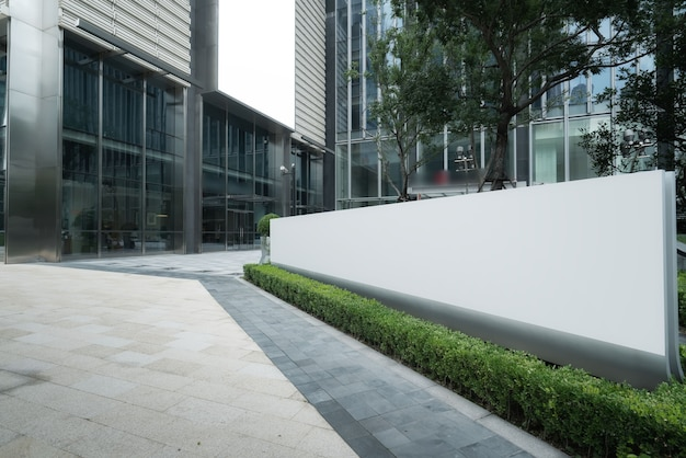 Shanghai financial district skyscraper entrance plaza