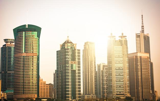 Quartiere degli affari di shanghai lujiazui