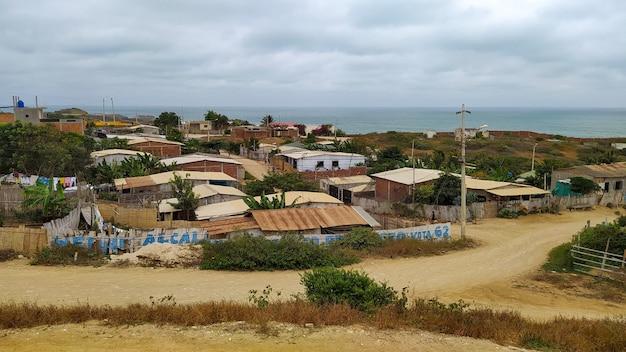 Городок из трущоб на юге эквадора