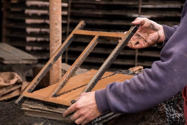 Shape tool to create traditional mud bricks