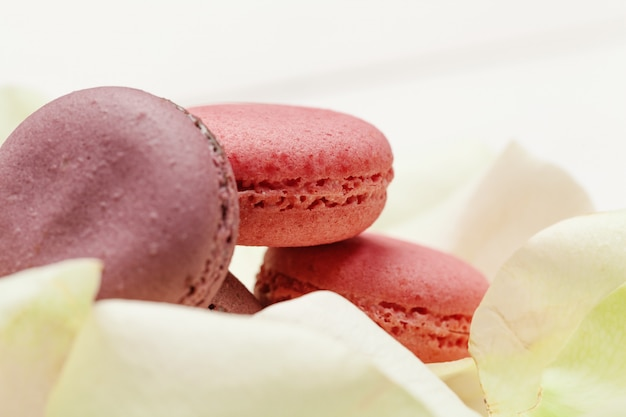 Shaped macaroons for valentine's day or mother's day