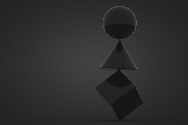 形状 3 d レンダリング バック 背景