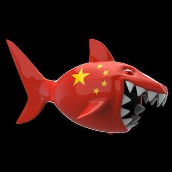 Shark concept - 3d illustration