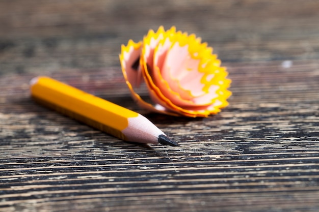 1本の鉛筆を削る