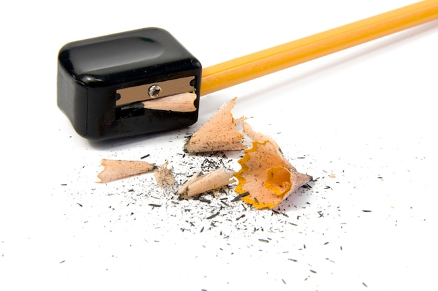 Заточка карандаша крупным планом макрос