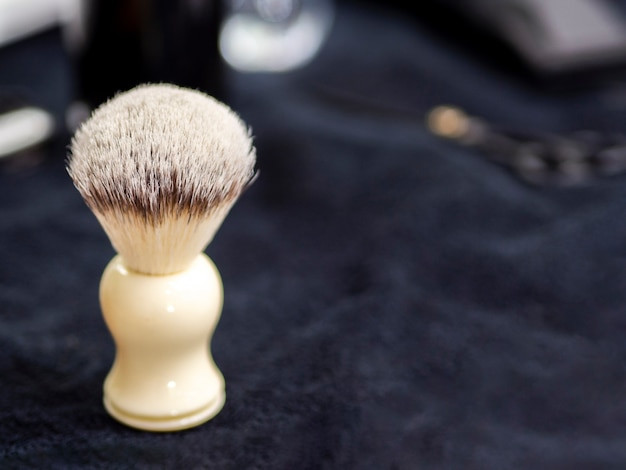 Shave brush with copy space