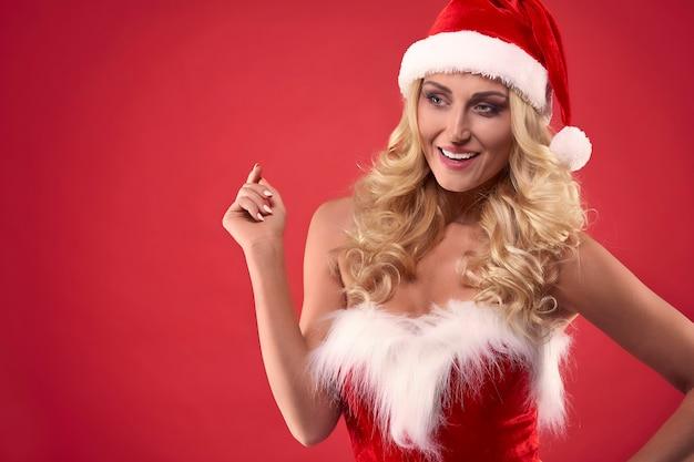 She may be a santa's girlfriend