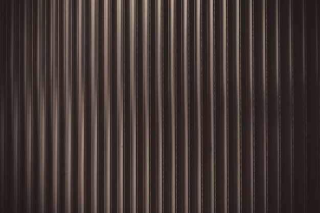 Sheet metal profile with dark brown color details