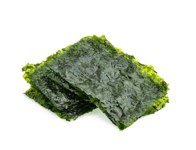 Лист сушеных водорослей, изолированные хрустящие водоросли